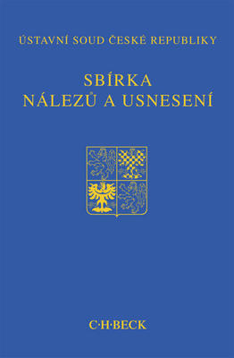 Obrázok Sbírka nálezů a usnesení ÚS ČR