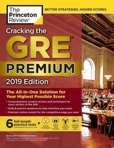 Obrázok Cracking the GRE Premium Edition with 6 Practice Tests, 2019