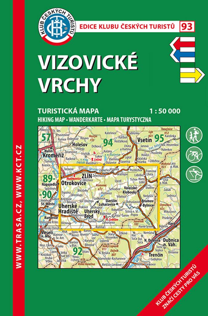 KČT 93 Vizovické vrchy 1:50 000