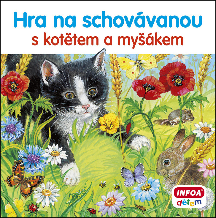 Hra na schovávanou s kotětem a myšákem