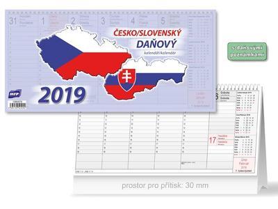 Česko/slovenský - stolní kalendář 2019