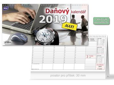 Daňový MAXI - stolní kalendář 2019