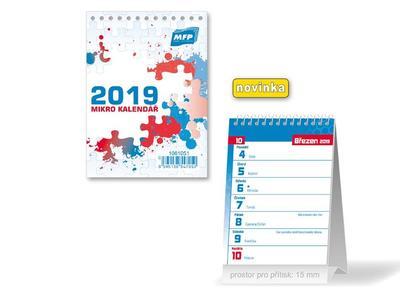 Mikro - stolní kalendář 2019