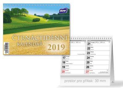 Čtrnáctidenní - stolní kalendář 2019