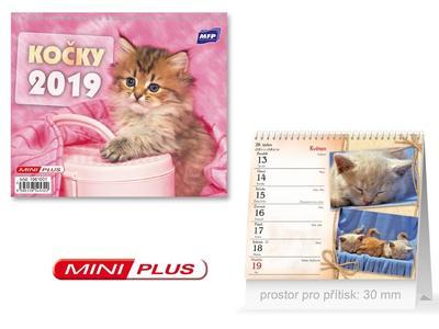 Mini Kočky - stolní kalendář 2019