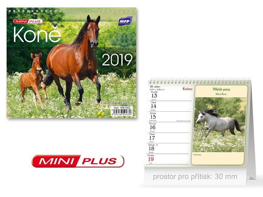 Mini Koně - stolní kalendář 2019