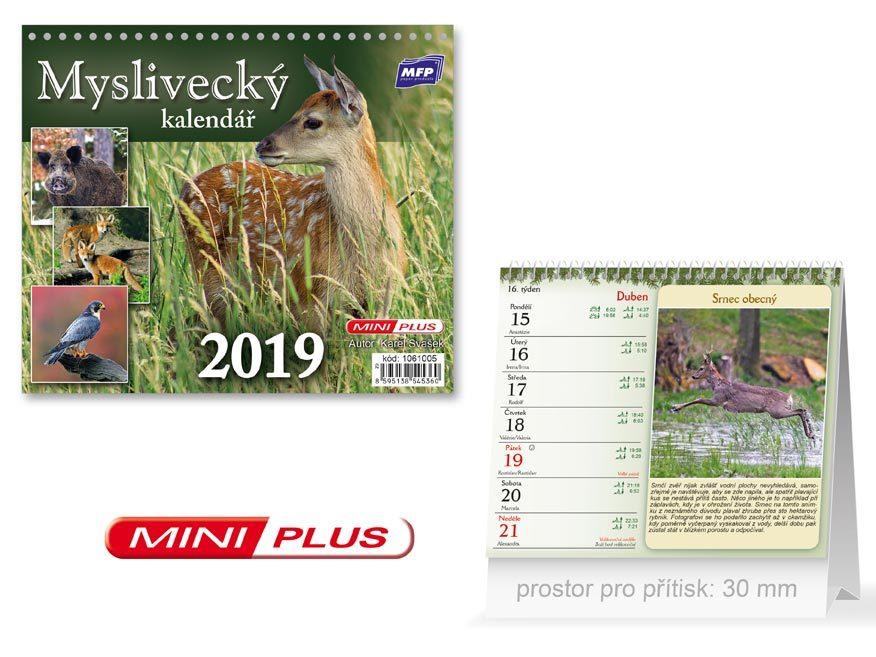 1d62dc760 Mini Myslivecký - stolní kalendář 2019 | KNIHCENTRUM.sk