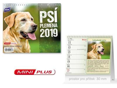 Mini Psí plemena - stolní kalendář 2019