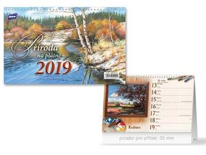 Obrázok Příroda na plátně - stolní kalendář 2019