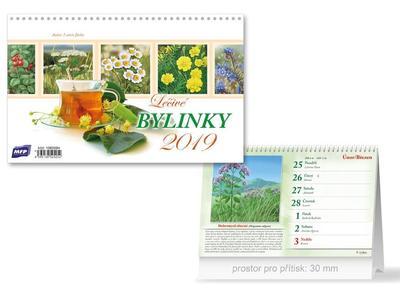 Léčivé bylinky - stolní kalendář 2019
