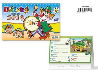 Dětský - stolní kalendář 2019