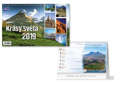 Krásy světa - stolní kalendář 2019