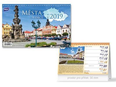 Města a obce ČR - stolní kalendář 2019