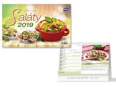 Saláty - stolní kalendář 2019