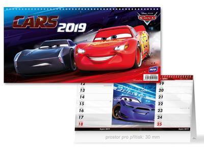 DISNEY Cars (čtrnáctidenní) - stolní kalendář 2019