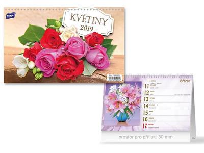Květiny - stolní kalendář 2019