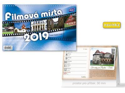 Filmová místa - stolní kalendář 2019