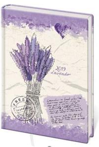 Obrázok Diář 2019 B6 LYRA denní Lavender