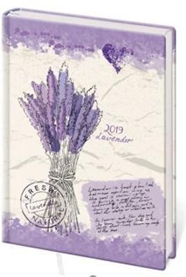 Diář 2019 B6 LYRA denní Lavender