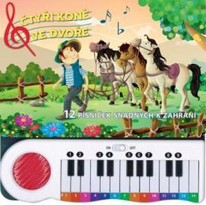 Obrázok Čtyři koně ve dvoře