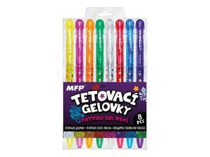 Obrázok Tetovací gelové pero set 8ks