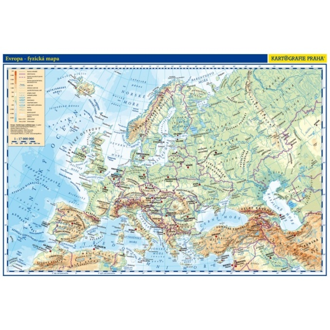 Evropa Prirucni Mapa Knihcentrum Cz