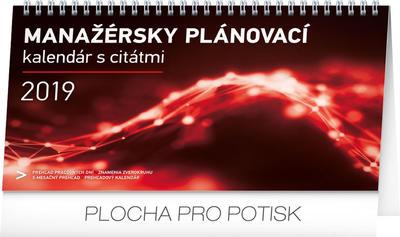 Obrázok Manažérsky plánovací kalendár s citátmi  - stolový kalendár 2019