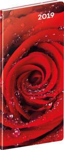 Obrázok Vreckový diár Ruže SK 2019, plánovací mesačný, 8 x 18 cm