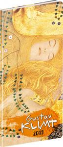 Obrázok Vreckový diár Gustav Klimt SK 2019, plánovací mesačný, 8 x 18 cm