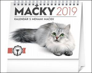 Obrázok Mačky, s menami mačiek- stolový kalendár 2019