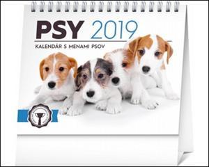 Obrázok Psy, s menami psov - stolový kalendár 2019