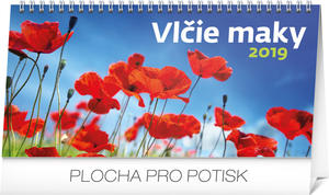 Obrázok Vlčie maky - stolový kalendár 2019