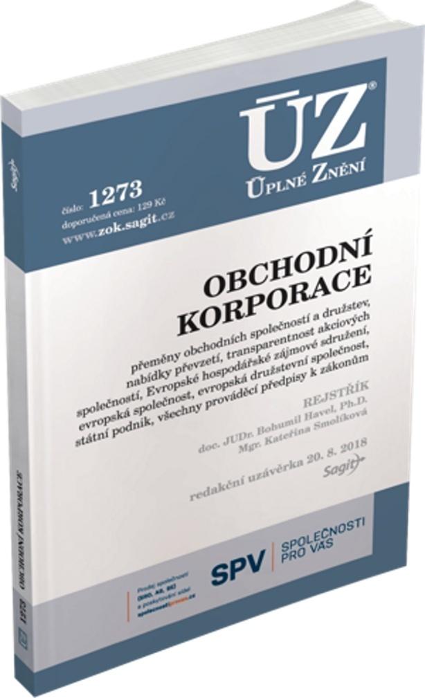 ÚZ 1273 Obchodní korporace