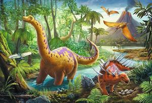 Obrázok Puzzle Dinosauři na cestách