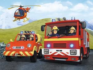 Obrázok Puzzle Požárník Sam na výjezdu