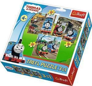 Obrázok Puzzle Mašinka Tomáš Do akce!