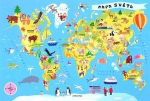 Obrázok Puzzle Mapa světa