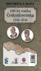 Obrázok Historická mapa 100 let vzniku Československa 1918 – 2018