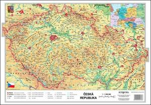 Obrázok ČR fyzická/kraje - mapa A3