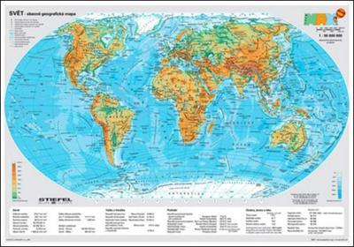 Obrázok Svět fyzický/politický - mapa A3