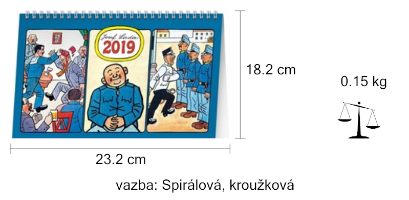 Josef Lada Svejk 2019 Stolni Kalendar Knihcentrum Cz