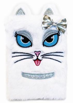 Plyšový deník Bílá kočka
