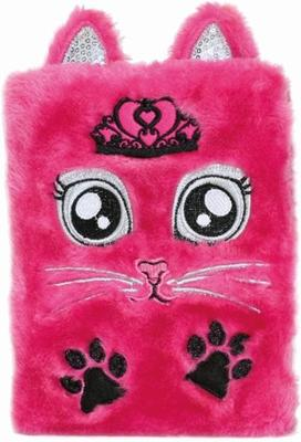 Plyšový deník Růžová kočka