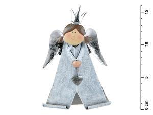Obrázok Anděl plechový č. 2 - 16,5 cm