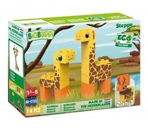 Obrázok BiOBUDDi stavebnice Wildlife Steppe 2v1 žirafa/jelen