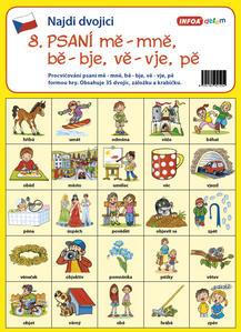 Obrázok Najdi dvojici 8 Psaní mě, mně, bě, bje, vě, vje, pě