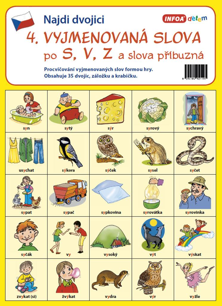 Najdi dvojici 4 Vyjmenovaná slova po S, V, Z