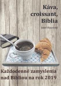 Obrázok Káva, croissant, Biblia