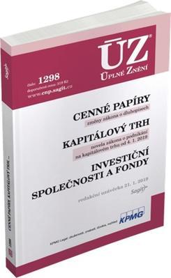 Obrázok ÚZ 1298 Cenné papíry, Kapitálový trh, Investiční společnosti a fondy, Komod