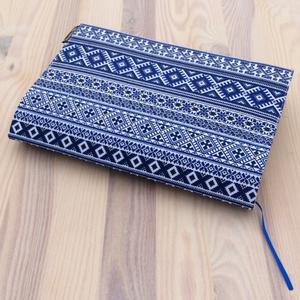 Obrázok Obal na knihu Norský vzor modrý
